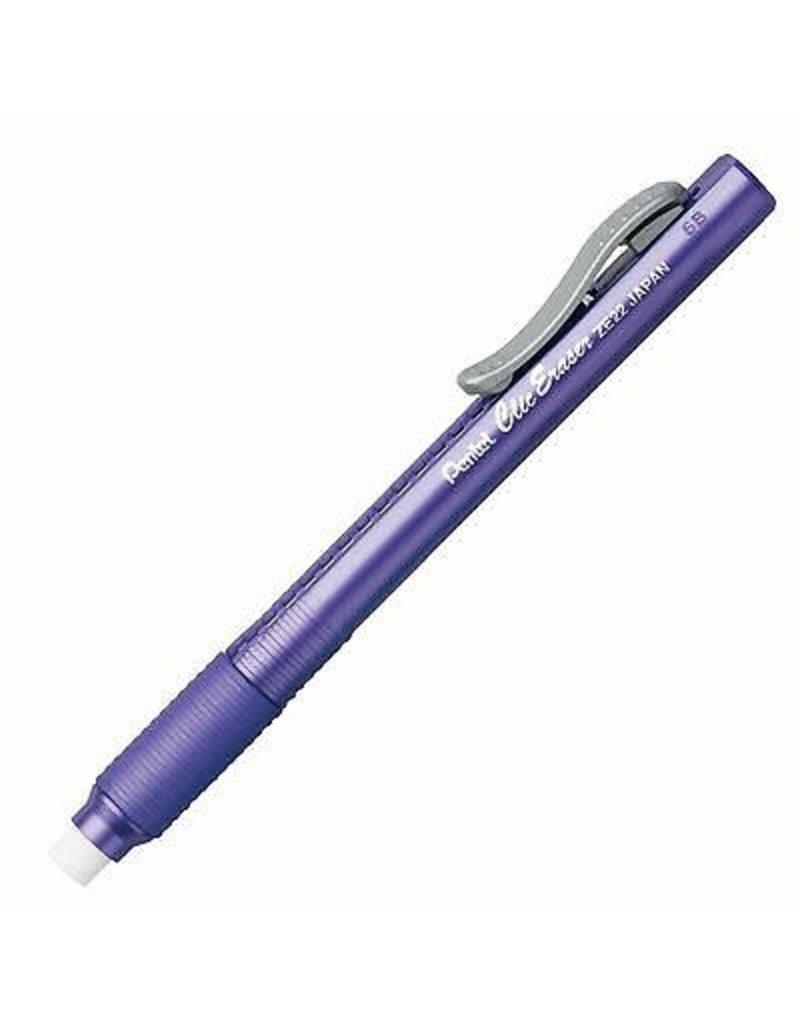 Pentel Eraser Clic/Grip Violet Barrel