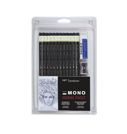 Tombow Mono Professional Drawing Pencil Set, 12 Pieces
