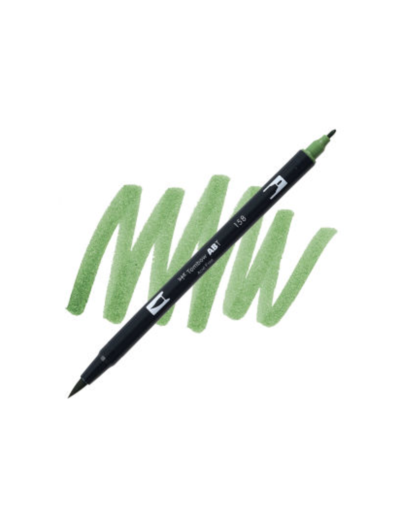 Tombow Dual Brush-Pen  158 Dark Olv
