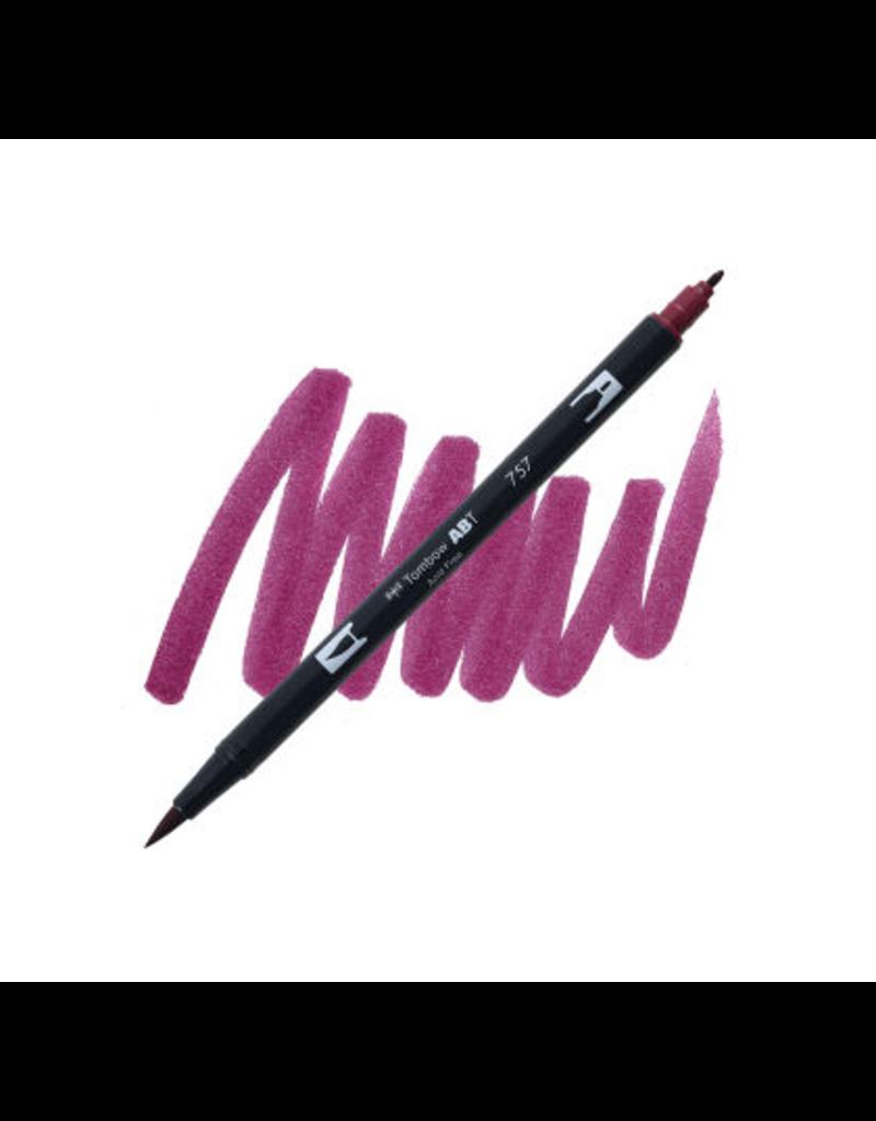 Tombow Dual Brush-Pen  757 Port Red