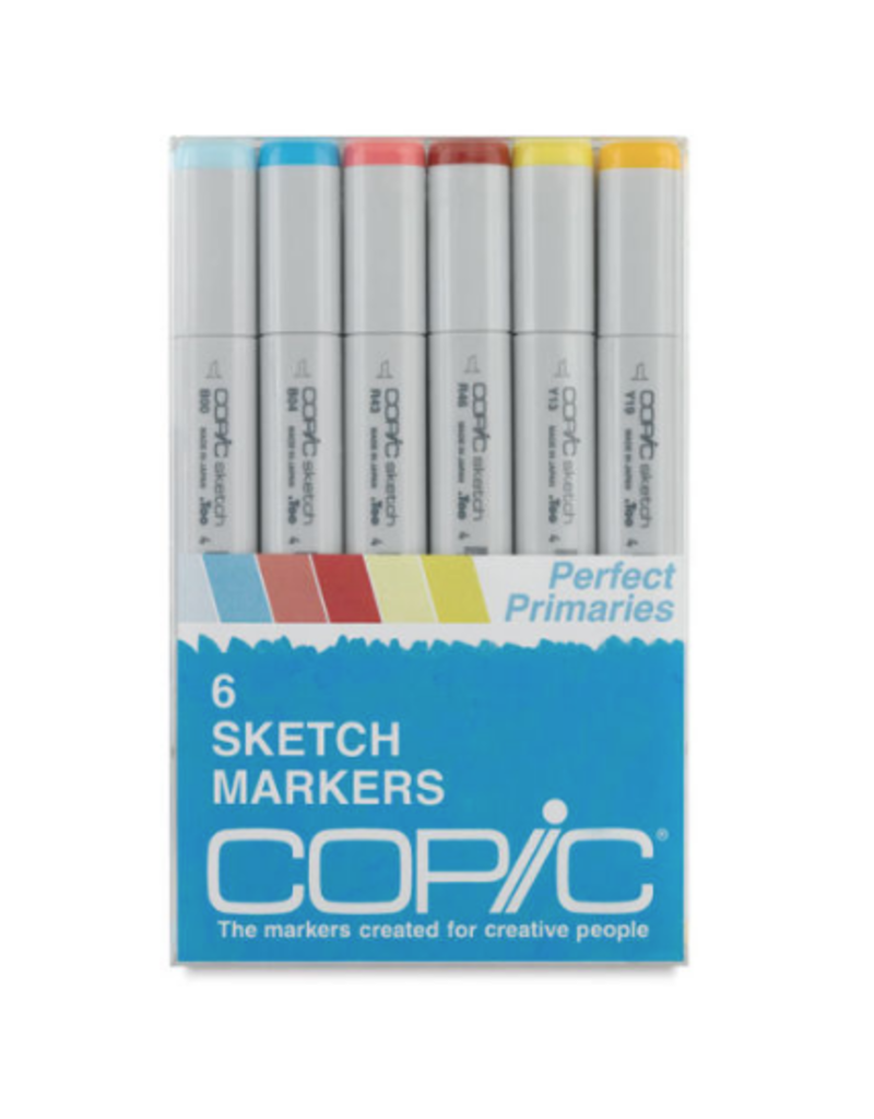 Copic Sketch 6 Piece Perfect Primaries Set