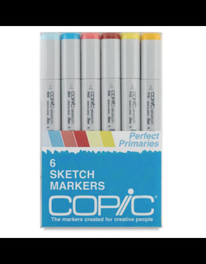 Copic Sketch 6Pc Perfect Primaries Set