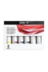 Liquitex Primary Colors Mixing Sets, 6-Color Set - Six 2 oz. Tubes