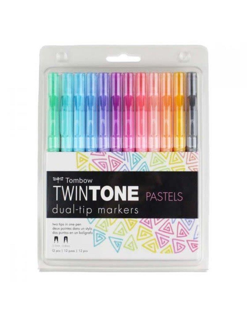 Tombow Twintone Set 12/Pastel