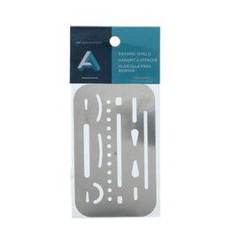 Art Alternatives Erasing Shield, Stainless Steel 2-3/8'' X 3-5/8''