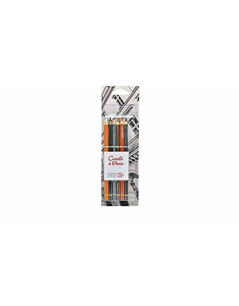 Conte Conte Sketch Pencil Set/6 Classic Crd