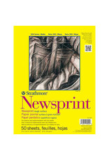 Strathmore Newsprint Paper Pads 300 Series, Rough, 9'' X 12''