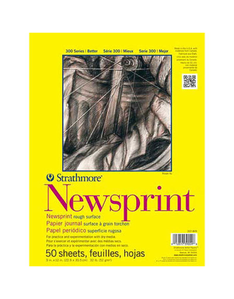 Strathmore Newsprint Paper Pads 300 Series, Rough, 24'' X 36''