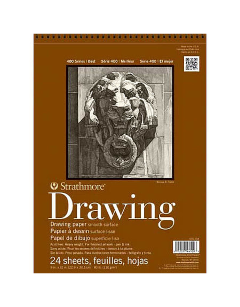 Strathmore Drawing Pads 400 Series, Smooth Surface, 11 X 14