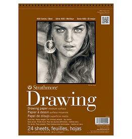 Strathmore Drawing Pads 400 Series, Medium Surface, 18 X 24