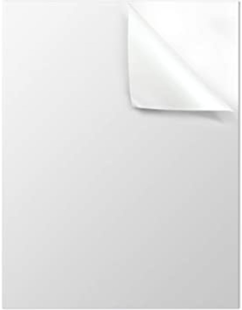 Uline Sticker Paper 8.5X11'' - Glossy White