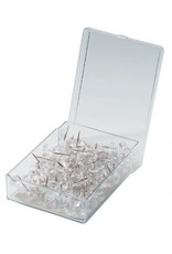 Alvin Alvin Clear Push Pins - 100 Count
