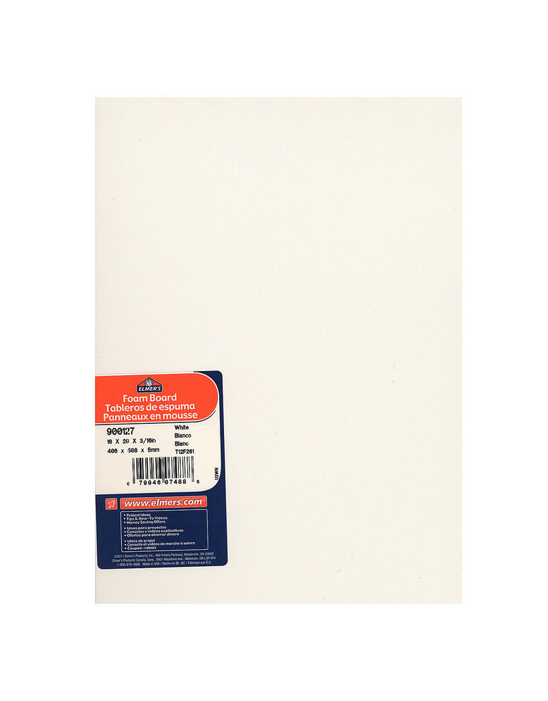 Elmers Foam Board 3/16 16X20 White