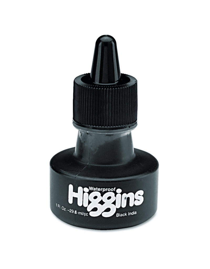 Higgins Higgins Waterproof India Ink, 1 Oz.