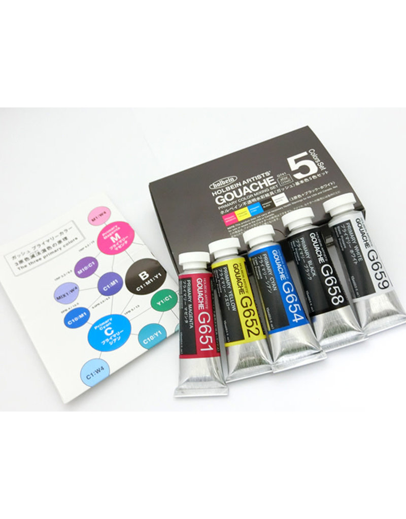Holbein Designers Gouache 5-Color 15Ml Mixing Colors Set