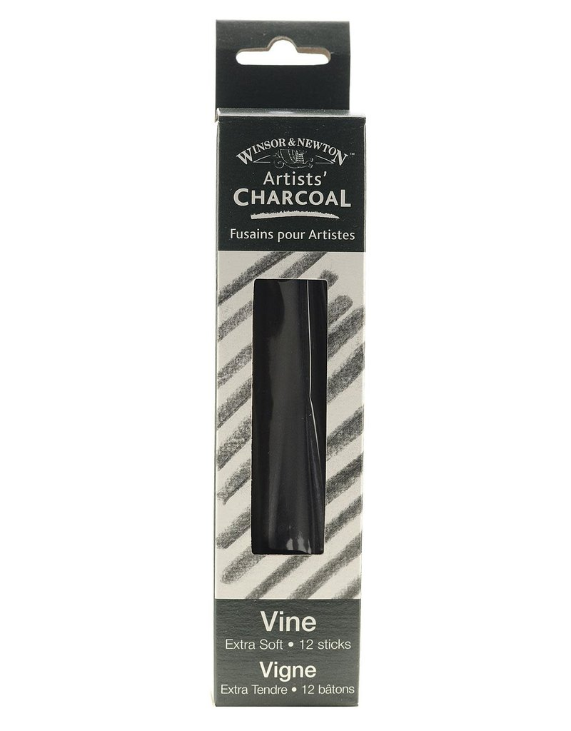 Winsor & Newton Artists' Vine Charcoal Extra-Soft - Box Of 12 Sticks