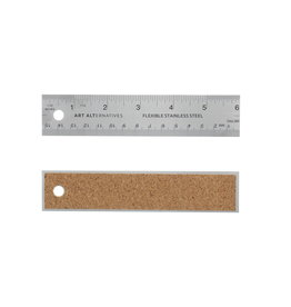 Art Alternatives Flexible Stainless Steel Rulers, 6''