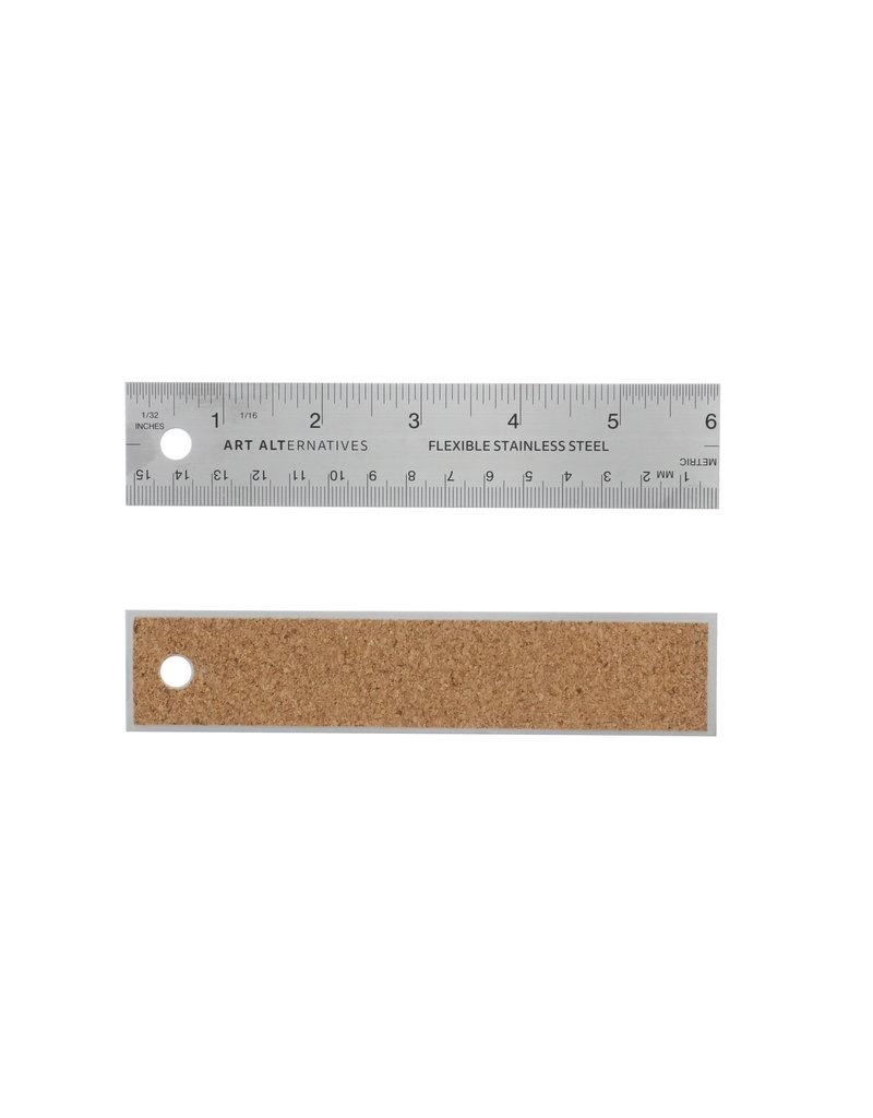Art Alternatives Flexible Stainless Steel Rulers, 6''