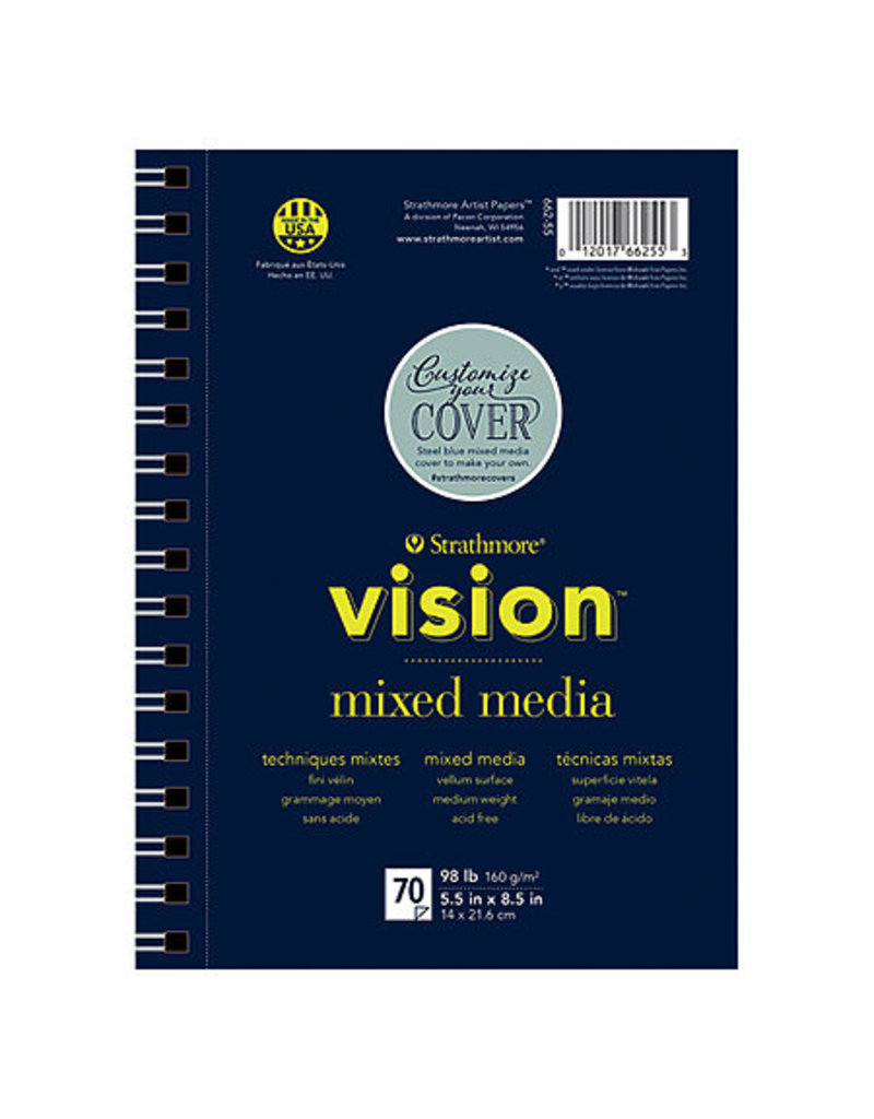 Strathmore Vision Mixed Media Paper Pads, 11'' X 14''