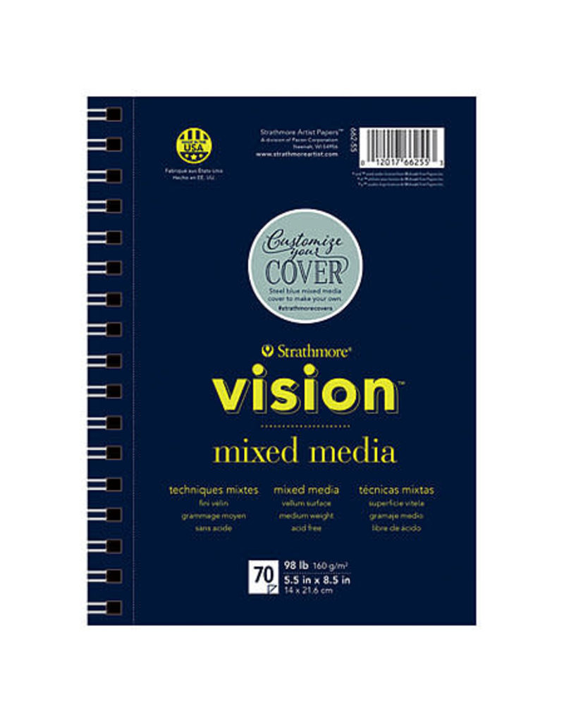 Strathmore Vision Mixed Media Paper Pads, 5.5'' X 8.5''