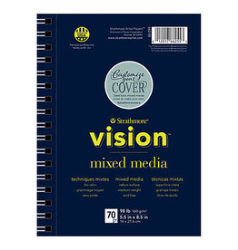 Strathmore Vision Mixed Media Paper Pads, 9'' X 12''