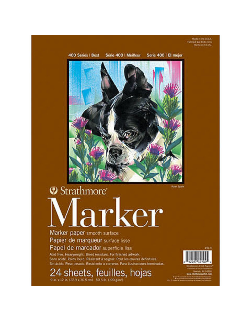 Strathmore Marker Paper Pads 400 Series, 9'' X 12''