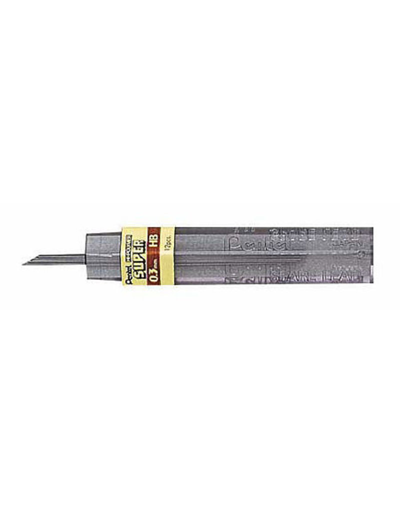 Pentel Lead Mechanical Pencil .3Mm Hb (12/Tube)