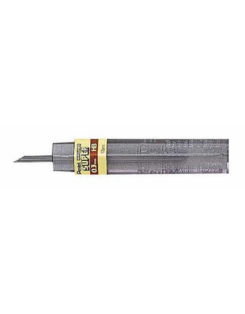 Pentel Lead Mechanical Pencil .3Mm H (12/Tube)