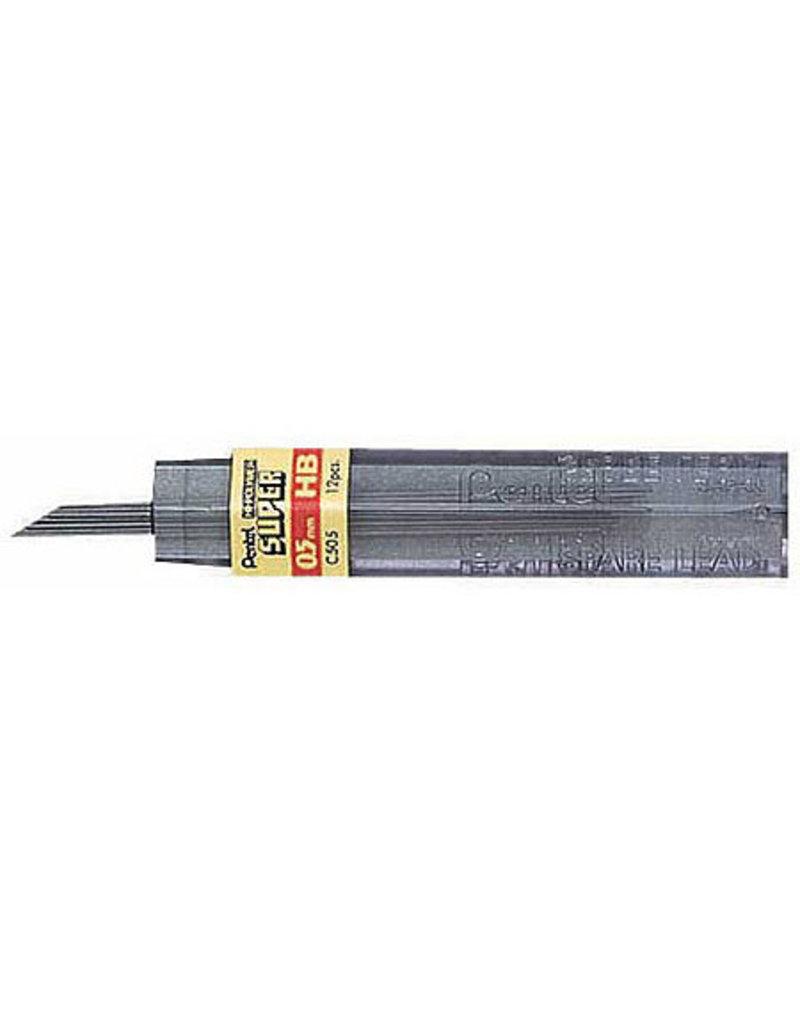 Pentel Lead Mechanical Pencil .5Mm 6H (12/Tube)