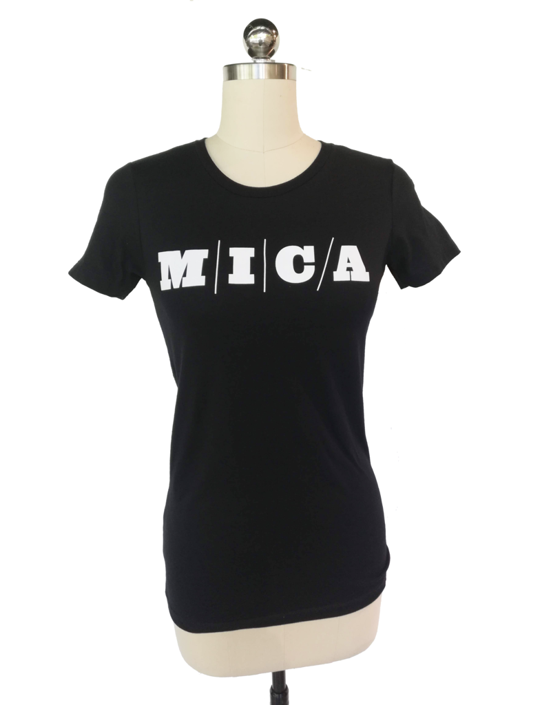 Bella + Canvas MICA Fitted Black Tee