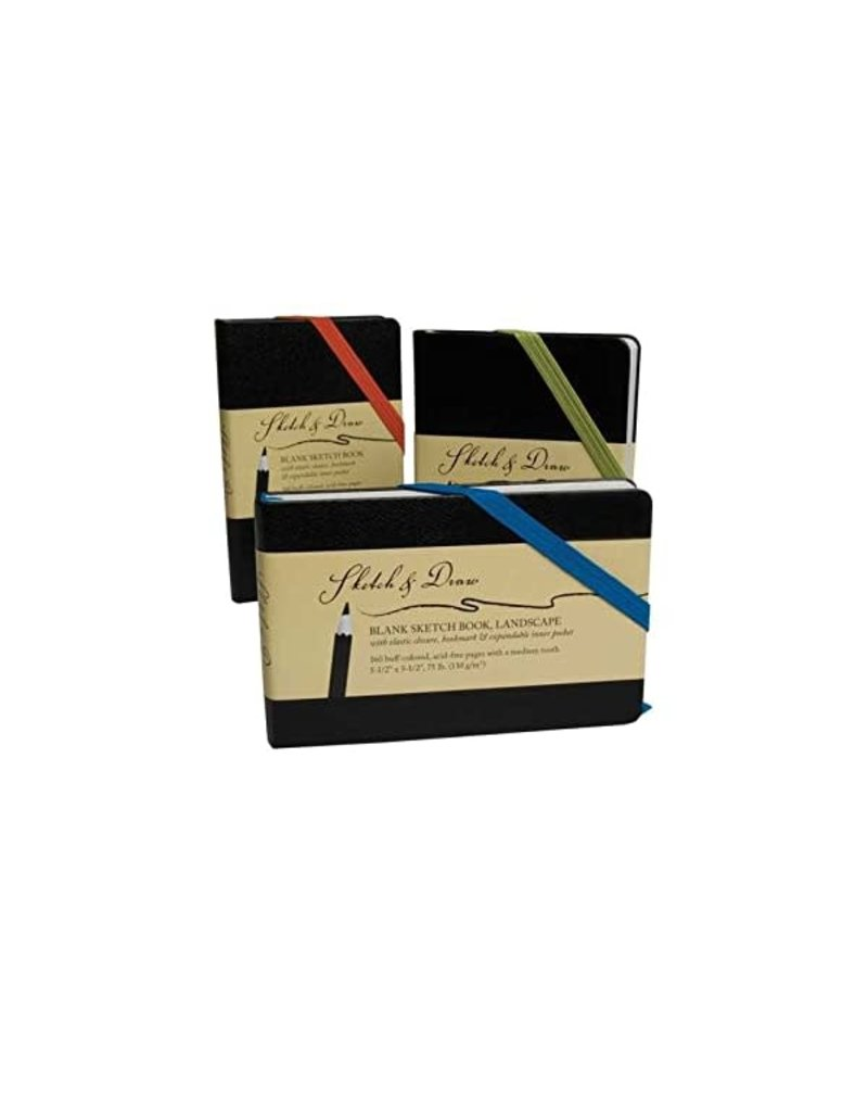 Art Alternatives Sketch & Draw Sketch Books, 5.5'' x 3.5'' - Landscape - Medium Weight, Blank 160/Sht. Journal
