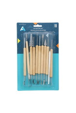 Art Alternatives 11-Piece Pottery Tool Set, Wood Handles & Steel Tips
