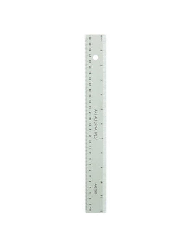 Art Alternatives 12'' Shatter Resistant Ruler, Inches & Centimeters