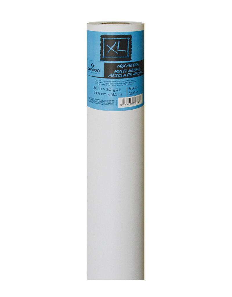 Canson Xl Mix Media Rolls, 36'' X 10 Yds. - 98 Lb. - Roll
