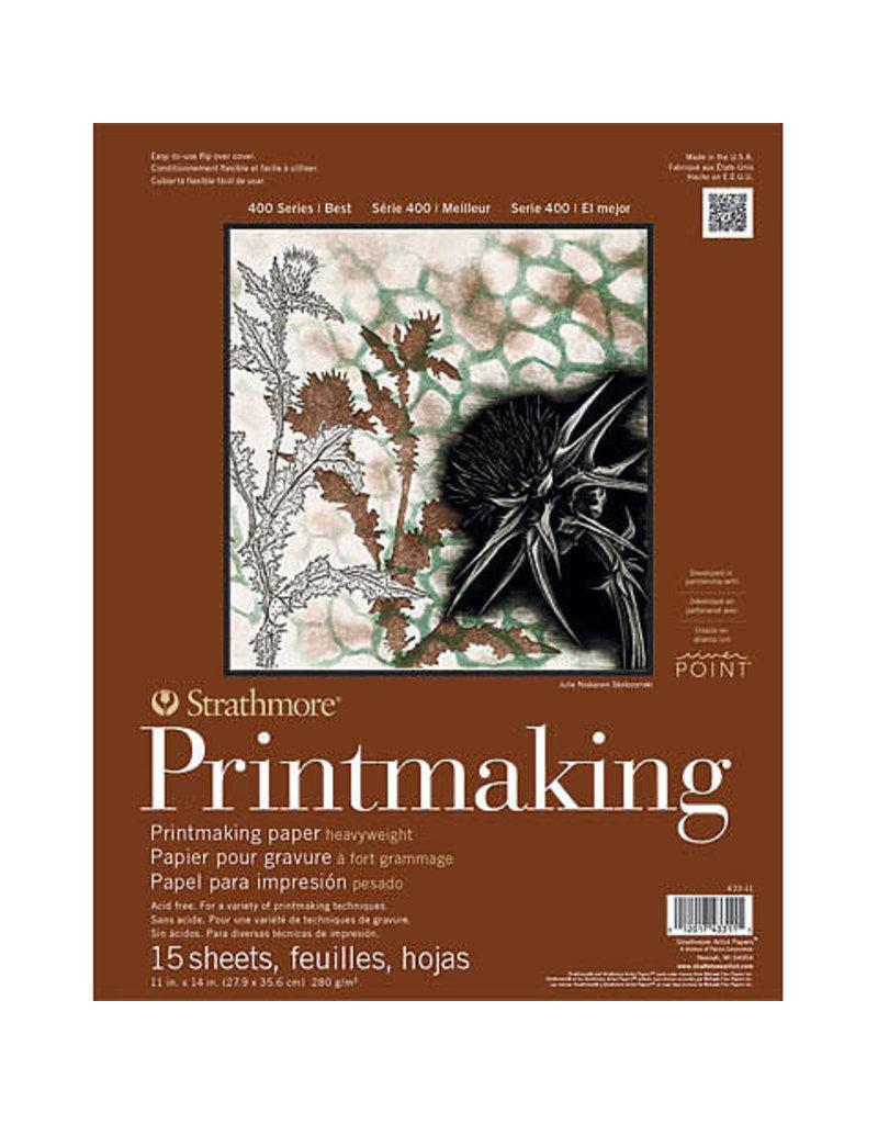 "Strathmore Printmaking Heavy-weight Pads 400 Series, 8"" x 10"" - 20 Shts./Pad - Glue Bound"