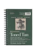 Strathmore Toned Sketch Paper Pads 400 Series, 5.5'' X 8.5'' - Tan