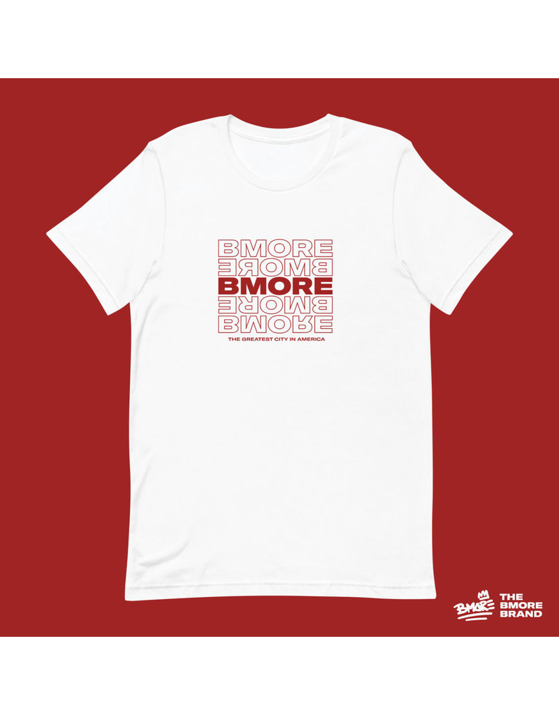 """Bmore Brand BMORE """"Thank You"""" White Tee"""