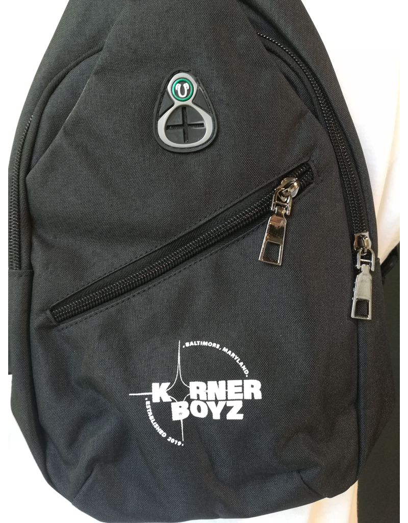 Korner Boyz KBZ Sports Sling Bag with USB Charging Port