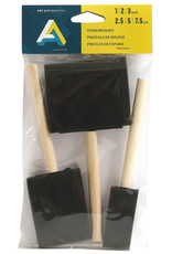 Art Alternatives Foam Brush 3-Piece Set