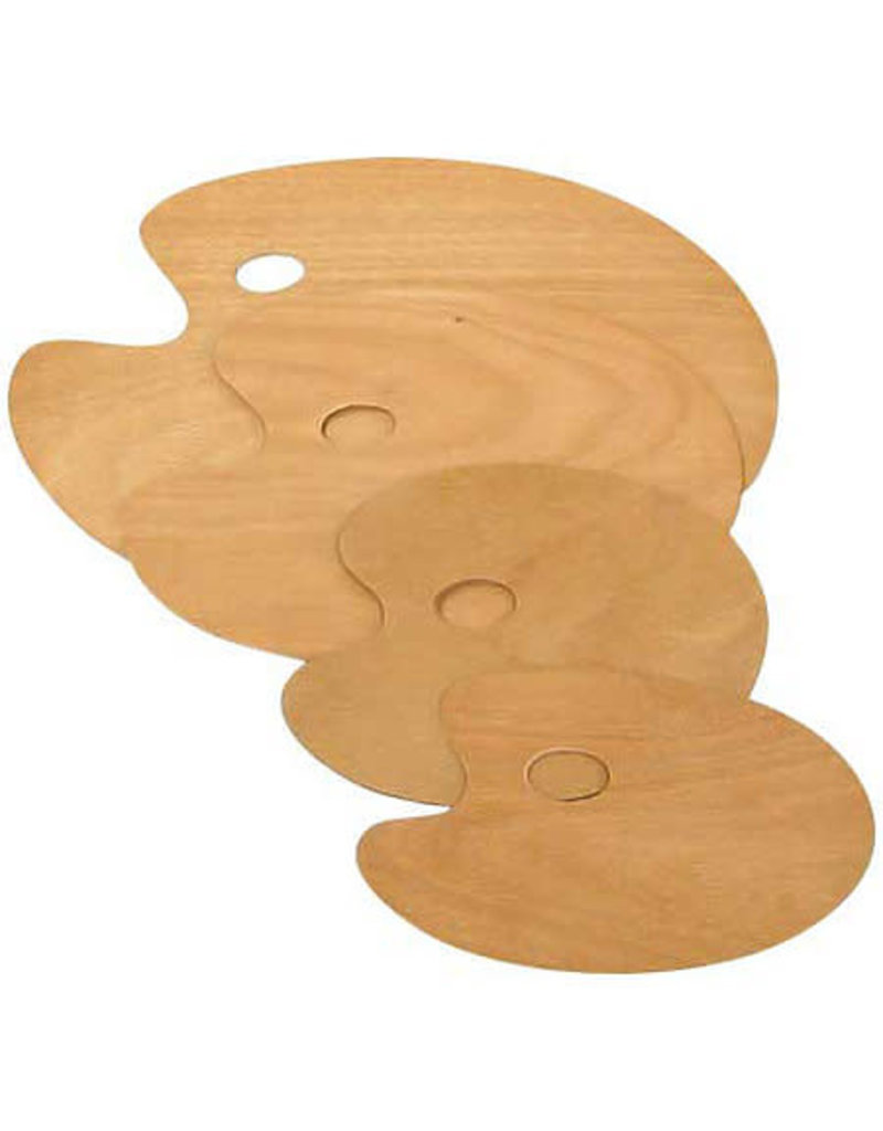 Art Alternatives Artist'S Wooden Palettes, Oval,11-3/4'' X 15-3/4''