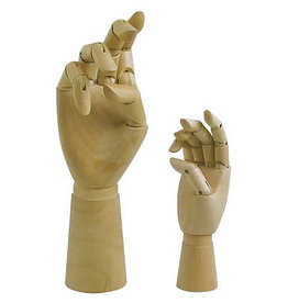 Art Alternatives 12'' Articulated Wooden Right Hand