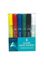 Art Alternatives Acrylic Paint Marker Sets, 6-Color Set Medium (2Mm)
