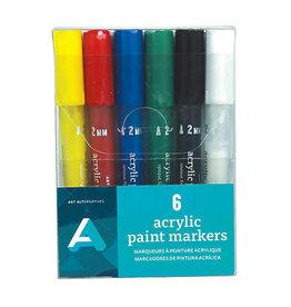 Art Alternatives Acrylic Paint Marker Sets, 6-Color Set Medium (2Mm)