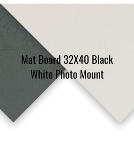 Crescent Board Mat Board 32X40 Black White Photo Mount