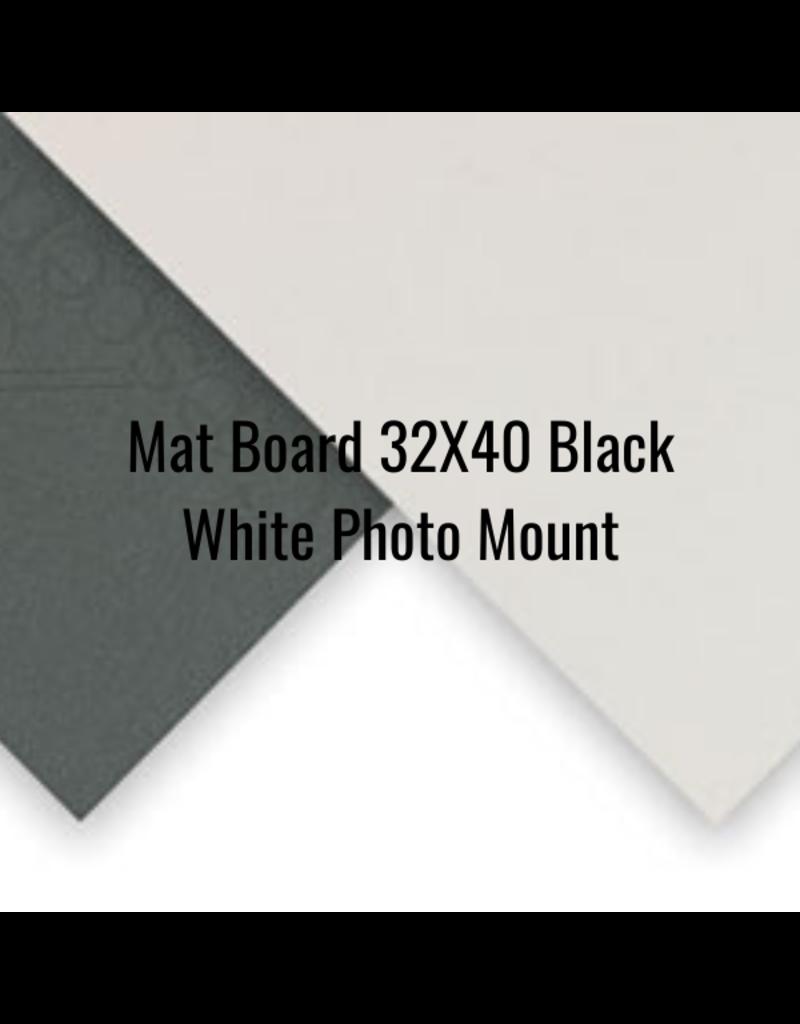 Crescent Board Mat Board 32X40 Black White Photo Mount