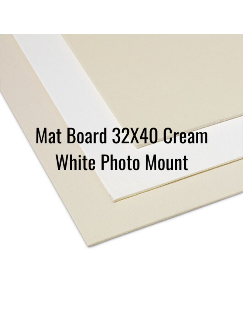 Crescent Board Mat Board 32X40 Cream White Photo Mount