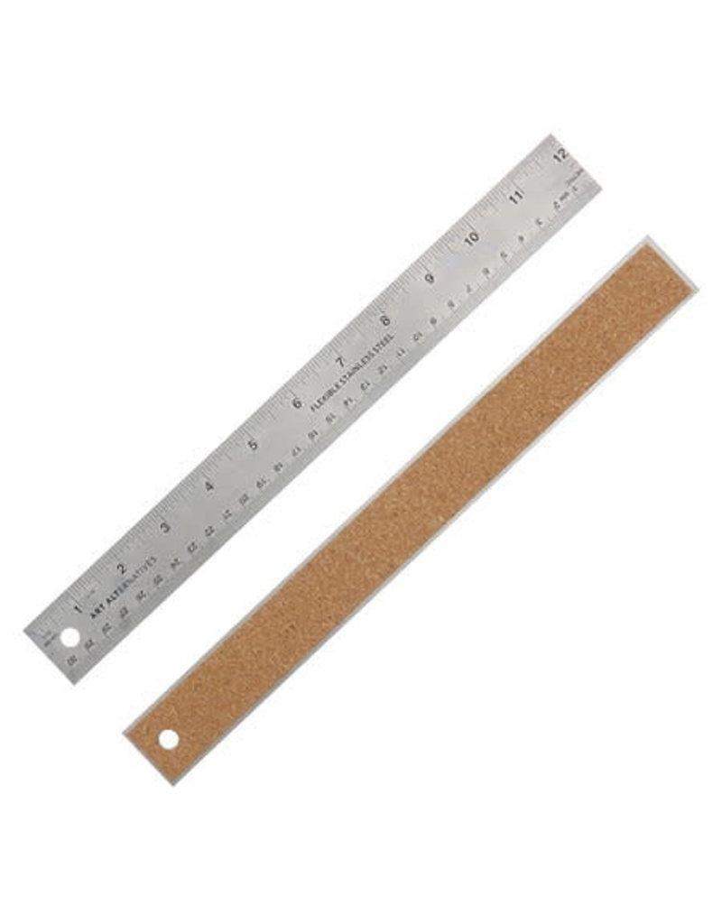 Art Alternatives Flexible Stainless Steel Rulers, 18''