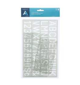 Art Alternatives Lettering Guide Set, 4 Pieces