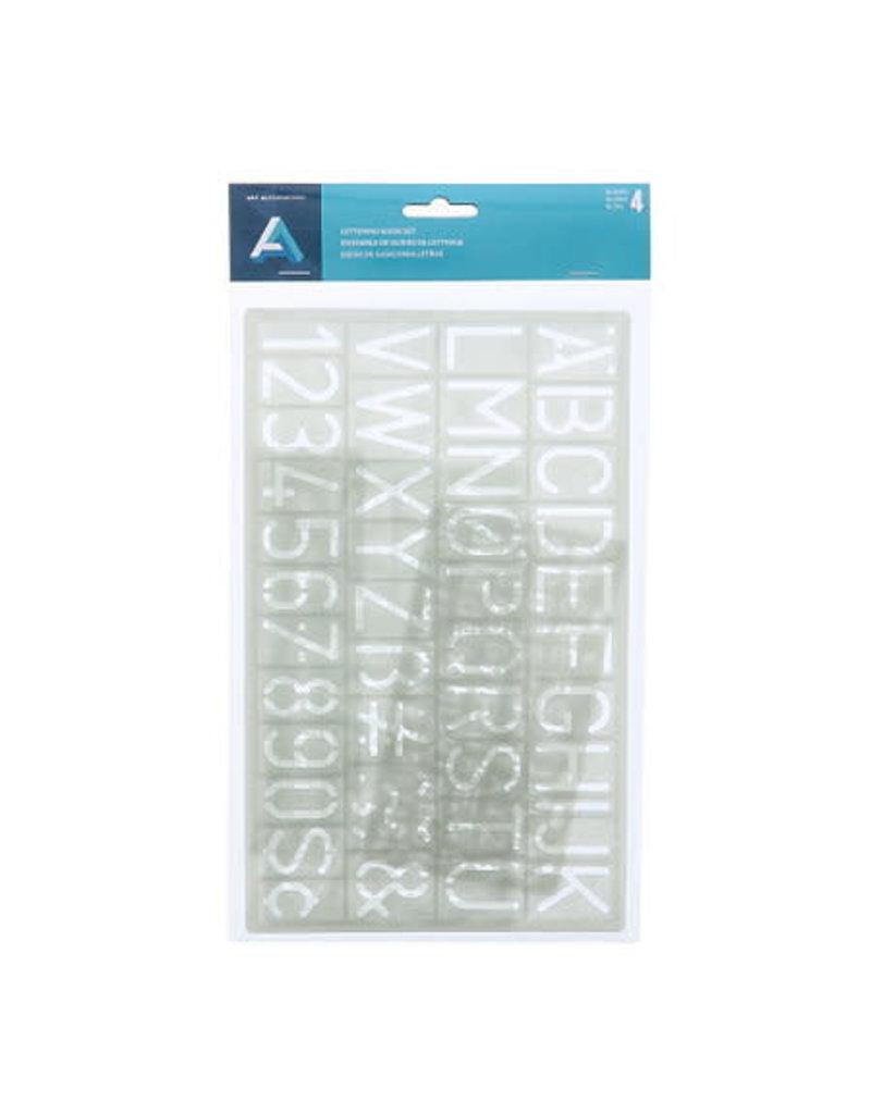 Art Alternatives Lettering Guide Set, 4 Pieces