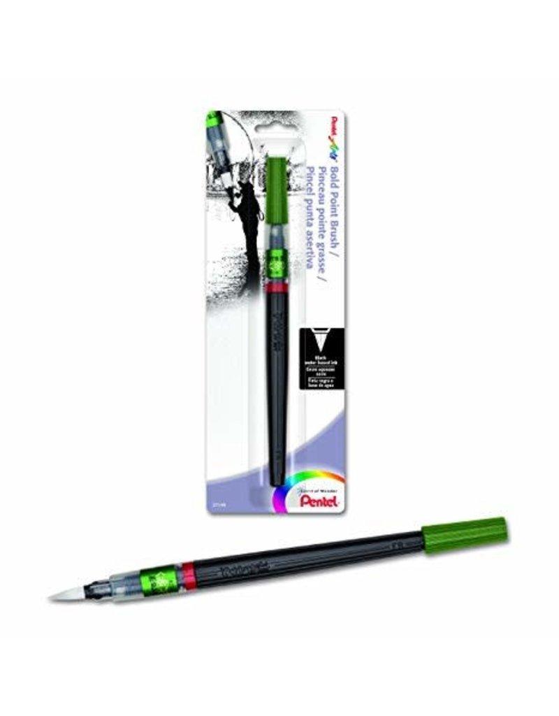 Pentel Color Brush Pens, Black Bold Water-Based Ink